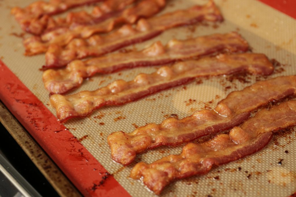 crispy baked bacon